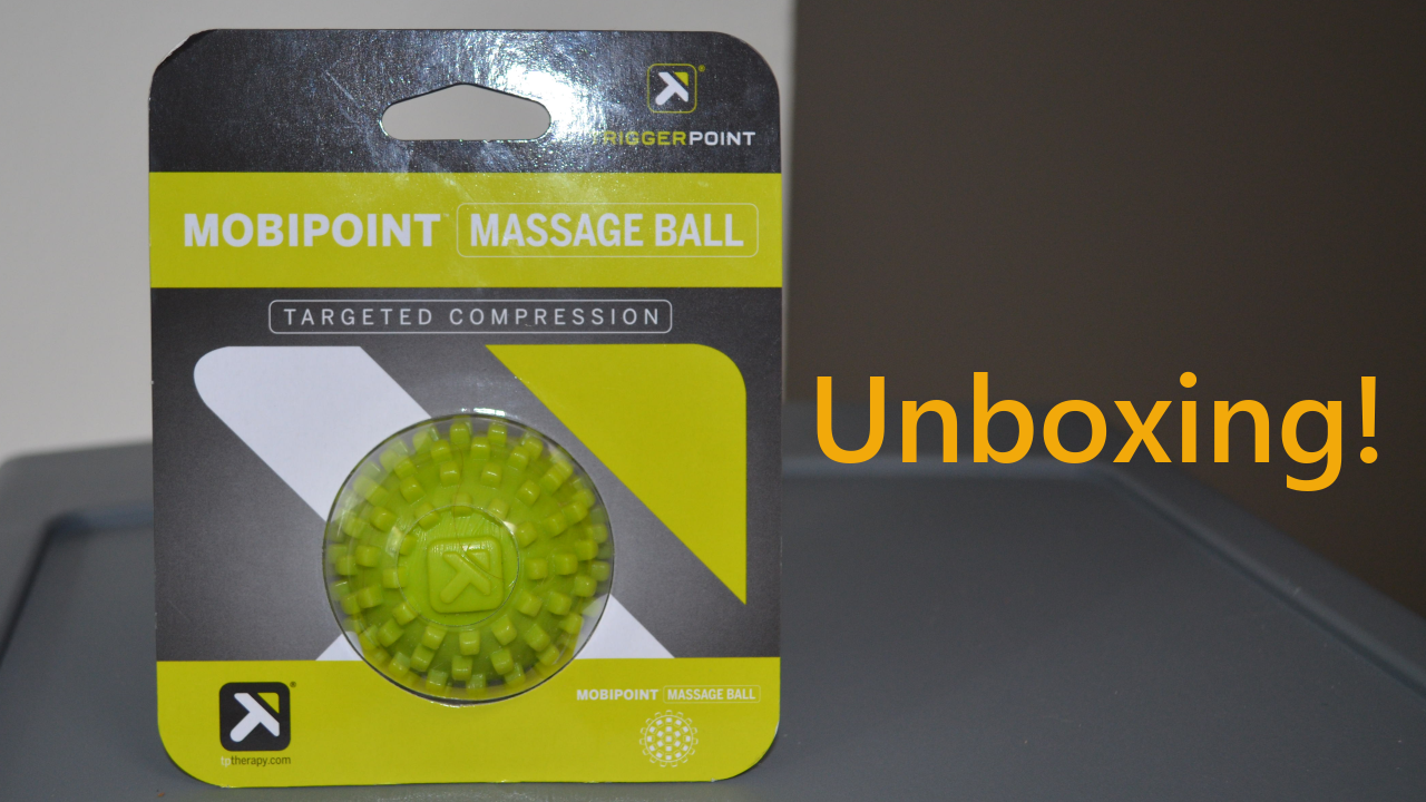 "Mobipoint ball in packaging with text ""unboxing"""