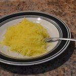 A plate of spaghetti squash