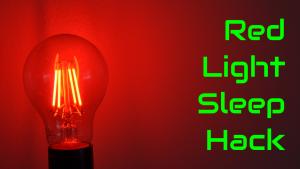 red lightbulb sleep hack