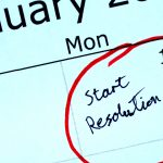 """Start Resolution"" Circled in red on a calendar for January 1st"