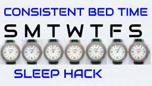 watch faces showing similar time for bed each night